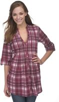 Copper key plaid tunic