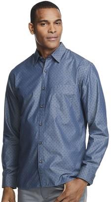 Van Heusen Men's Never Tuck Classic-Fit Poplin Button-Down Shirt