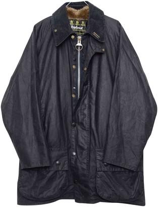 Barbour Navy Cotton Coat for Women Vintage