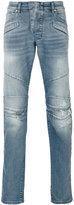 Pierre Balmain panelled slim-fit jeans