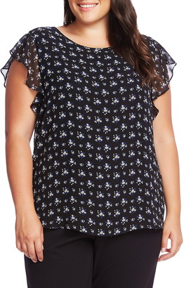 Vince Camuto Charming Ditsy Floral Blouse