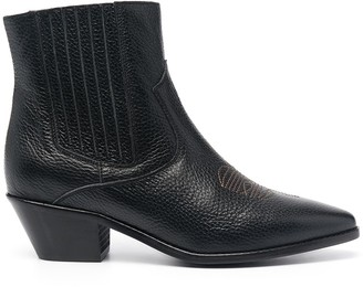 Zadig & Voltaire Tyler Grained Vintage ankle boot