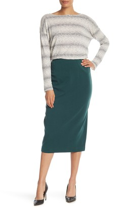 Eileen Fisher High Waist Silk Blend Pencil Skirt