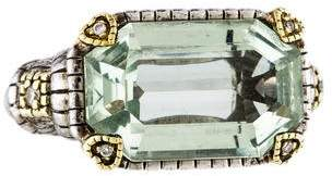 Judith Ripka Prasiolite & Diamond Cocktail Ring