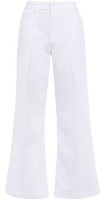 7 For All Mankind Cropped High-rise Wide-leg Jeans