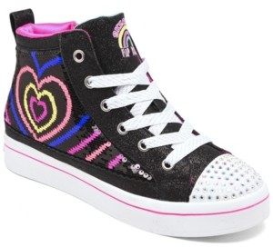 Skechers Big Girls Flip Kicks: Twi-Lights 2.0 Heartbeatz Casual Sneakers from Finish Line
