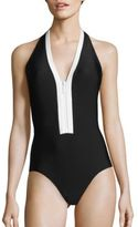 MICHAEL Michael Kors Half Moon Bay One-Piece Swimsuit