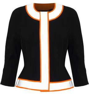Moschino Neon-trimmed Crepe Jacket