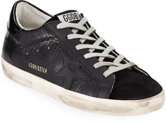 Golden Goose Superstar Tonal Leather Sneakers