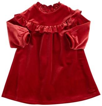 Chloé Ruffled Velvet Party Dress