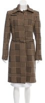 CNC Costume National Wool Houndstooth Coat