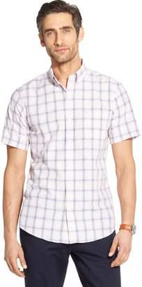 Izod Men's Breeze Classic-Fit Plaid Button-Down Shirt