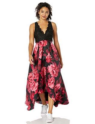 Jump Junior's Lace & Floral Printed Gown