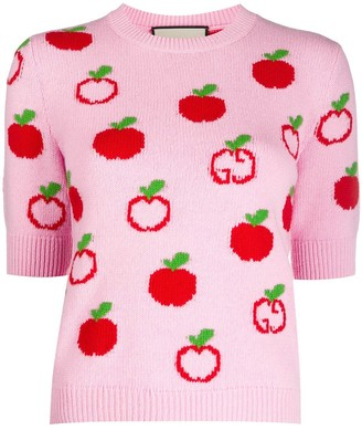 Gucci GG apple knitted top