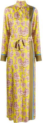 Odeeh sailboat print maxi shirt dress