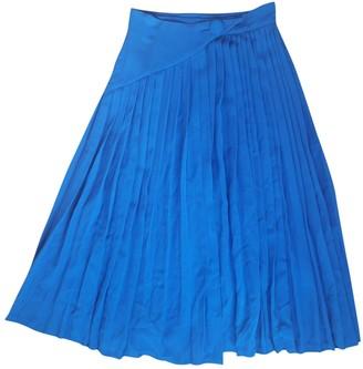 Lanvin Blue Cotton Skirt for Women Vintage