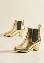 Lover of Luster Metallic Bootie in Gold in 6.5