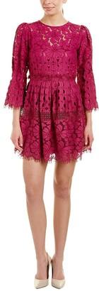 Laundry by Shelli Segal Women's Mock Neck Lace Dress with Scallop Hem
