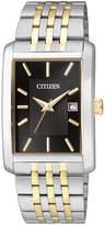 JCPenney Citizen Quartz Citizen Everyday Mens Rectangular Two-Tone Stainless Steel Watch BH1678-56E