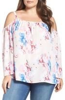 Vince Camuto Plus Size Women's Floral Off The Shoulder Blouse
