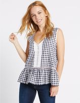 Marks and Spencer PETITE Pure Cotton Gingham Blouse