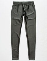 Full Tilt Faux Leather Girls Leggings