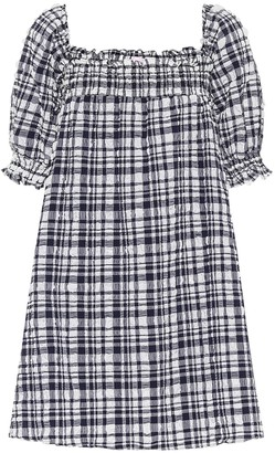 Solid & Striped Babydoll checked minidress