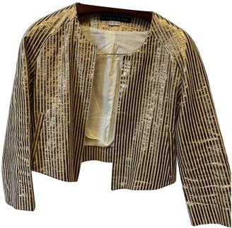 Les Prairies de Paris Metallic Linen Jacket for Women