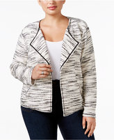 Style&Co. Style & Co. Plus Size Space-Dyed Open-Front Jacket, Only at Macy's