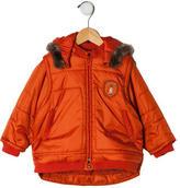 Catimini Girls' Faux Fur-Trimmed Jacket