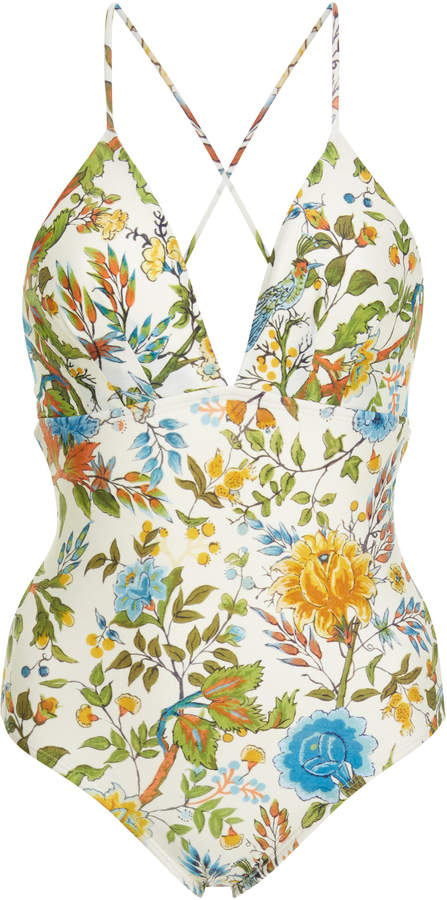Lenny Niemeyer Plunge Crossover Back One Piece Swimsuit