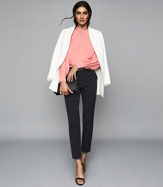 Reiss Joanne - Cropped Tailored Trousers in Navy