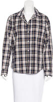 Frank And Eileen Plaid Pattern Button-Up Top
