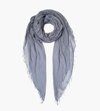 Chan Luu Cloud Grey Metallic Cashmere And Silk Scarf