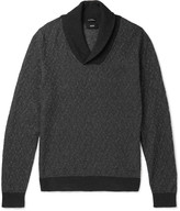 Hugo Boss - Baik Shawl-collar Cotton And Cashmere-blend Sweater