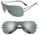 Ray-Ban Women's 60Mm Shield Sunglasses - Gunmetal