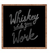 Deny Designs Nick Quintero Whiskey While You Work Square Bamboo Tray