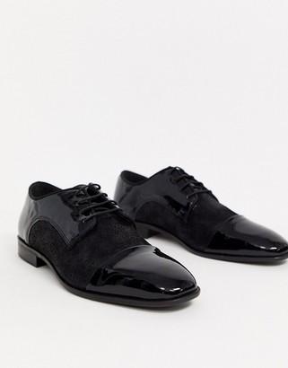 Kurt Geiger suede lace up shoe in black