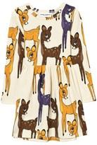 Mini Rodini Brown Deer Print Jersey Dress