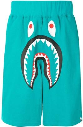A Bathing Ape Shark wide track shorts