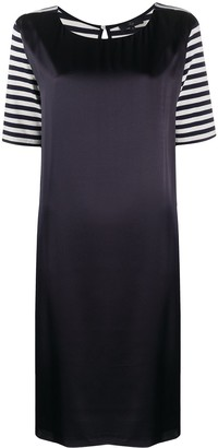 Fay Striped Sleeve Dress