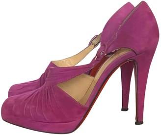 Christian Louboutin Pink Velvet Heels