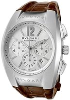 Bulgari Men's Diagono Mechanical/Automatic Chronograph Textured Dial Brown Crocodile