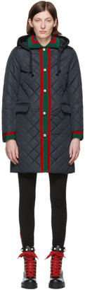 Gucci Navy Quilted Jacket
