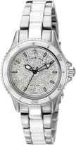Stuhrling Original Women's 250.12EP2 Astera Swiss Made Quartz Date Swarovski Crystal Two Tone Watch
