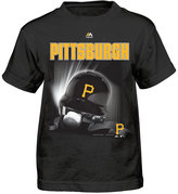 Majestic Toddlers' Pittsburgh Pirates Kinetic Helmet T-Shirt