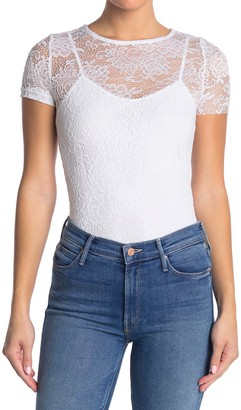 GOOD LUCK GEM Lace Baby Tee