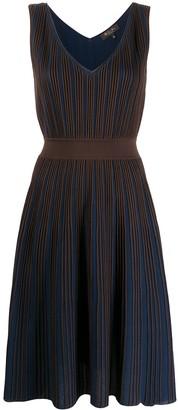 Loro Piana V-neck striped pattern dress