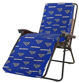 College Covers NCAA West Virginia Indoor/Outdoor Chaise Lounge Cushion