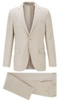 HUGO BOSS - Vegan Slim Fit Suit In Italian Linen - Light Beige